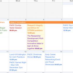 The Postdoc Calendar